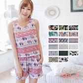 BKK 泰國曼谷圖樣設計舒適棉質背心+短褲兩件式套裝 現貨(TE001~TE017)