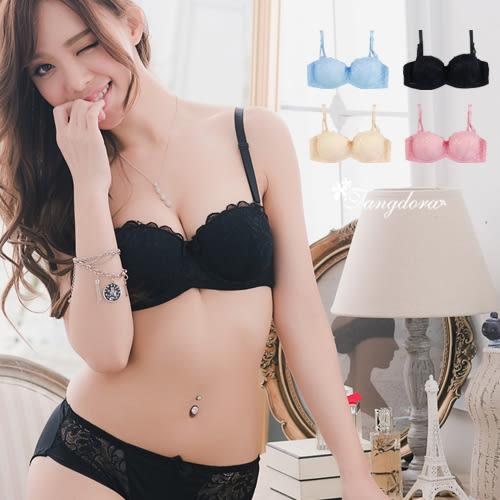 唐朵拉-優1/2杯半罩式 美胸呼之欲出細緻蕾絲肌膚好舒適34.36.38.40BC罩單件內衣(7033)
