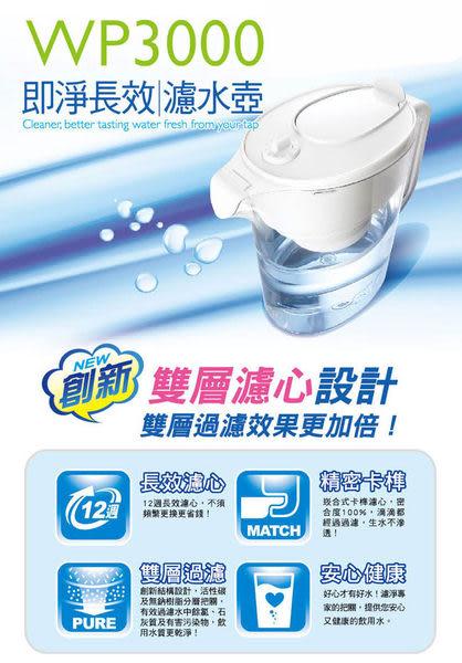 3M即淨長效濾水壺 (一壺2心)