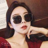 《Caroline》★7色可選/新款明星同款金屬潮流瘦臉經典方框大框時尚太陽眼鏡 69859標檢局D74321