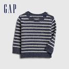 Gap男嬰清爽條紋設計圓領針織衫524371-光感亮白