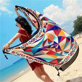 海灘紗巾百搭防曬披肩女沙灘巾海邊超大兩用夏度假多功能棉麻圍巾     米娜小鋪