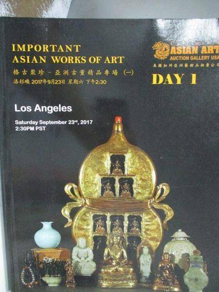 【書寶二手書T5/收藏_YJX】Los Angeles_Important Asian Works…2017/9/23