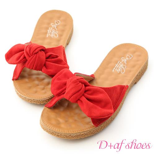 立體蝴蝶結平底涼拖鞋