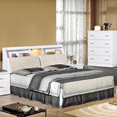 床架【時尚屋】[UZ6]福特純白5尺布面雙人床UZ6-74-1+74-2不含床頭櫃-床墊/免運費/免組裝/臥室系列