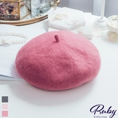 帽子 RCha。素色毛呢貝蕾帽-Ruby s 露比午茶