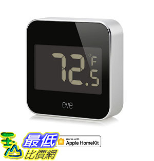 [107美國直購] 溫控器 Eve Degree Connected Weather Station with Apple HomeKit technology tracking temperature