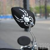 機車後視鏡 摩托車後視鏡電動反光鏡通用 電瓶車倒車鏡踏板鬼火小龜王三輪車『優尚良品』