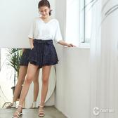 CANTWO點點層次荷葉褲裙-共兩色~網路獨家優惠3折