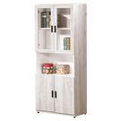 【森可家居】狄倫古橡木2.5尺書櫃 (單) 7ZX609-3 收納 書櫥 刷白 木紋質感 北歐風