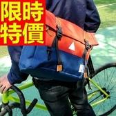 尼龍側背包-萬用可肩背方便多功能男女郵差包5色57b16【巴黎精品】