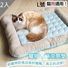 【南紡購物中心】【藻土屋】寵物降溫冰絲涼墊冷感寵物墊(L號)X2入