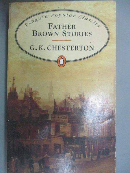 【書寶二手書T1/原文小說_JNB】Father Brown Stories_G. K. Chesterton