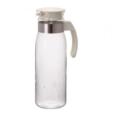 HARIO萬用冷水壺1400ml 耐熱玻璃壺身 冷熱飲皆可裝 瓶身刻度設計容量一目了然