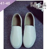 大尺碼女鞋-凱莉密碼-都會休閒時尚風百搭懶人樂福鞋2.5cm(41-45)【PPQ30】