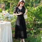 仙氣波浪裙襬蕾絲花紋宴會長禮服洋裝[99208-QF]小三衣藏