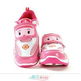 女童鞋 POLI卡通正版安寶款閃燈運動鞋 電燈鞋 魔法Baby