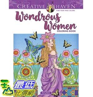 暢銷畫冊書 Creative Haven Wondrous Women Coloring Book (Adult Coloring) Paperback