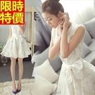 洋裝無袖氣質優雅-公主蕾絲甜美蓬蓬連身裙女裝小洋裝2色67m11【巴黎精品】