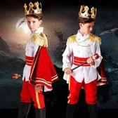 春季上新 萬圣節兒童男童國王 王子服裝cosplay吸血鬼衣服化妝舞會演出禮服