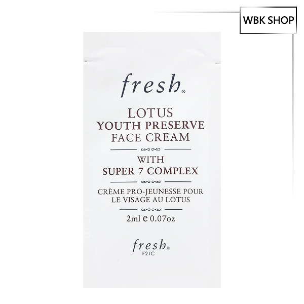 Fresh 睡蓮青春煥膚面霜 2ml Lotus Youth Preserve Face Cream - WBK SHOP