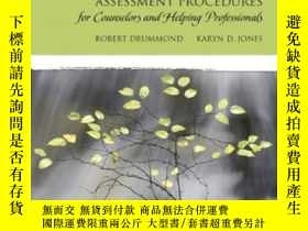 二手書博民逛書店Assessment罕見Procedures For Couns