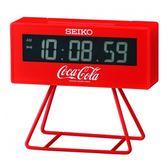 【台南 時代鐘錶 SEIKO】精工 可口可樂聯名款鬧鐘 電子鐘 QHL901R 嗶嗶聲 日曆 貪睡 燈光