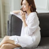 純棉睡裙性感透視襯衣睡衣
