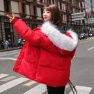 韓版外套羽絨外套 加厚冬季上衣潮流 中長款夾克外套加絨 麵包服棉服女生外套 女士外套棉襖
