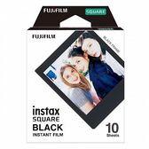 【黑框 BLACK】富士 FUJIFILM Instax square 拍立得 方形 相紙 方型相片 底片 軟片 10張 For SQ10 SQ6 SP3