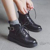 馬丁靴 馬丁靴女新款英倫風學生韓版百搭女靴春秋季短靴子冬 LN6135 【雅居屋】