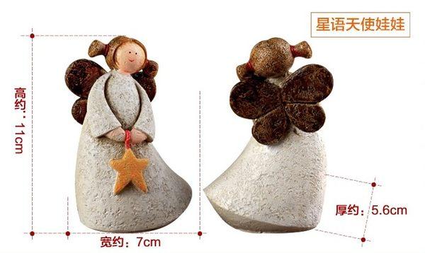 [協貿國際]愛心星語天使樹脂娃娃單組價(2隻1組)