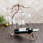 【全館】現折200歐式創意紅酒架擺件現代簡約酒柜裝飾品擺件懸掛紅酒杯架倒掛家用