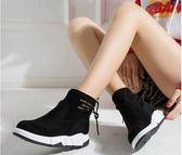 馬丁靴     棉鞋子女抖音雪地靴女短筒平底加絨磨砂馬丁靴短靴加厚女鞋    瑪麗蘇