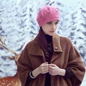 羊毛帽-韓版時尚S形水晶女針織帽73id29【時尚巴黎】
