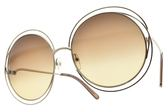 Chloe 太陽眼鏡 CE114S 773 (銀-漸層茶鏡片) 熱銷金屬大圓框 墨鏡 # 金橘眼鏡