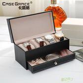 手錶收藏盒 高檔手錶盒子抽屜式佛珠手鍊收納盒手錶展示首飾盒  快速出貨
