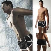 男游泳褲 口袋圓角平角泳褲 平角男士泳褲 港仔會社