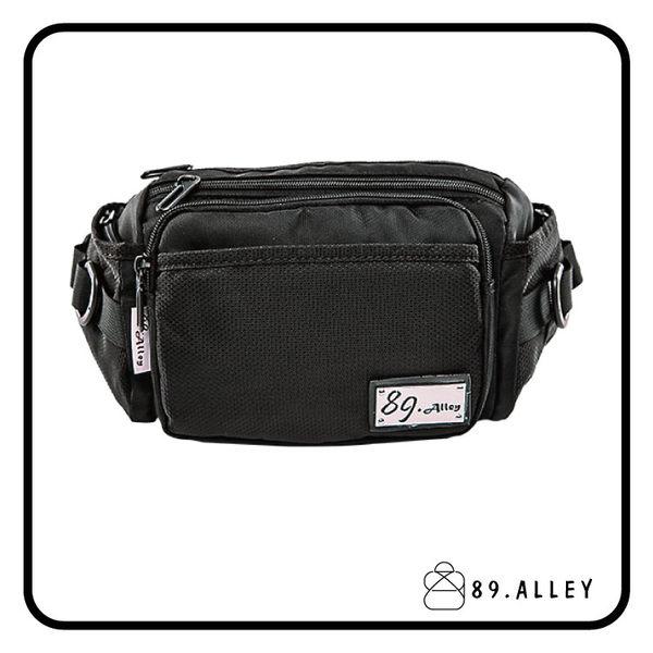 腰包 單肩包  女包男包 黑色系防水包 輕量尼龍立體多層情防搶包 89.Alley ☀1色 HB89144