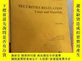 二手書博民逛書店英文書罕見securities regulation cases and materials third edit