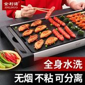金利諾燒烤爐家用電無煙電烤盤電烤爐不粘韓式多功能烤肉機烤肉鍋【全館免運八八折下殺】