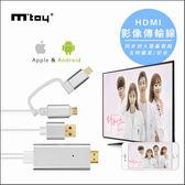 電視線 影音傳輸線  HDMI 視頻轉換線 轉接器 【AB0020】手機轉電視 安卓蘋果通用