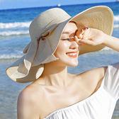 海邊防曬草帽 可折疊沙灘帽大沿遮陽帽m23