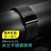 錶帶 適用apple watch錶帶iwatch3代4蘋果手錶錶帶米蘭尼斯不銹鋼42mm38/44/4 城市科技