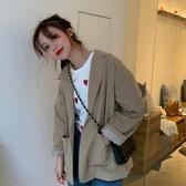 小西裝外套女韓版英倫風復古氣質寬鬆休閒西服上衣 青山小鋪