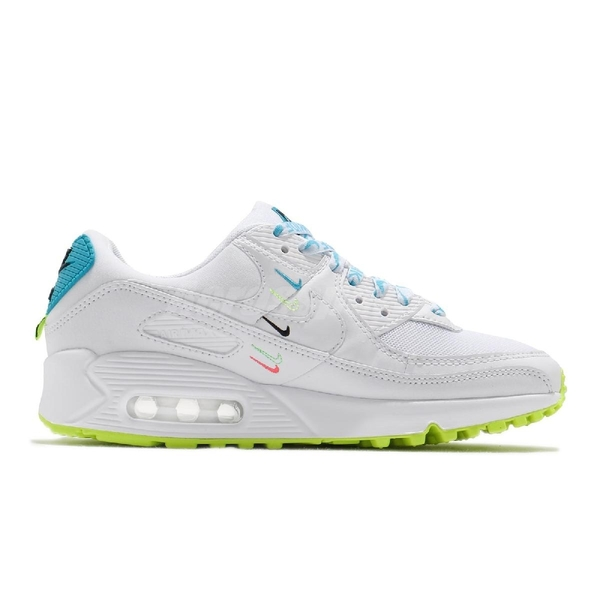 Nike 休閒鞋 Wmns Air Max 90 Worldwide 白 藍 女鞋 氣墊 運動鞋【ACS】 CK7069-100
