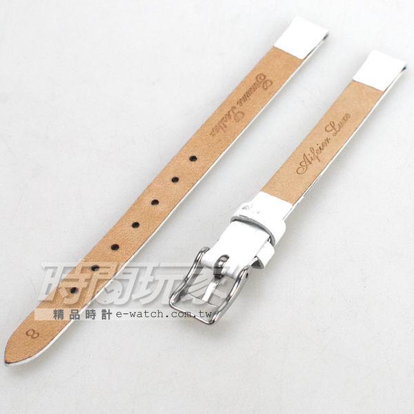 8mm錶帶 真皮錶帶 白色 錶帶 RE白竹8
