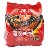 韓國 No Brand 海鮮炒碼拉麵(110gx5包)【小三美日】團購/泡麵