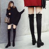 長靴 秋冬季粗跟過膝長靴高跟彈力靴加絨高筒女靴子長筒靴