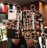 iPhone 7 Plus 手機殼 豹紋 腕帶 防摔軟殼 全包保護殼 手機套 斜挎揹帶 保護套 掛繩 iPhone7